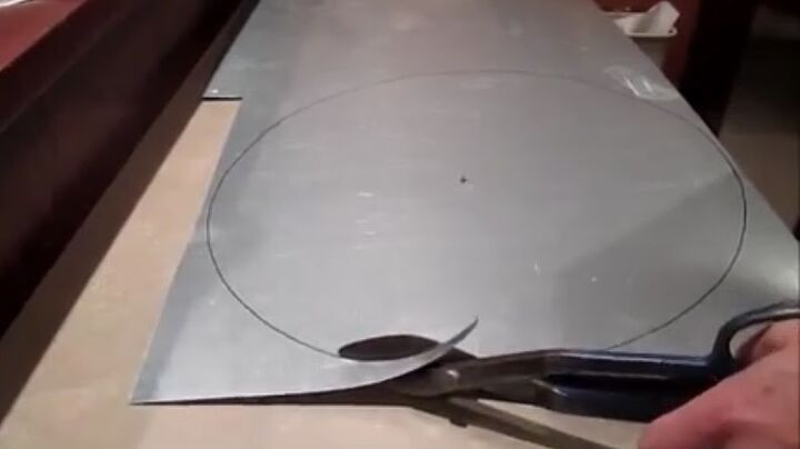 Step 4: Cut Out Circle and Make Hole in the Center