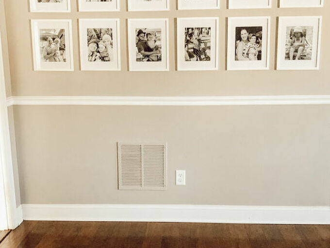 the secret to hanging photos easily