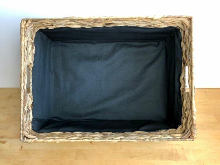 how to line a log basket