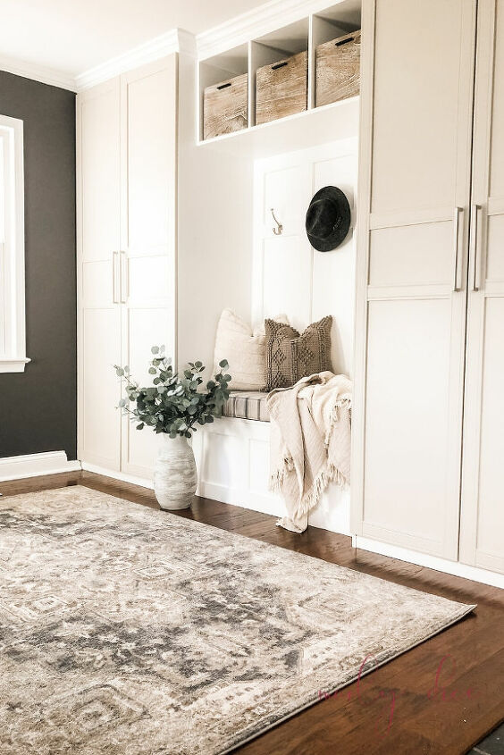 mudroom makeover using an ikea hack