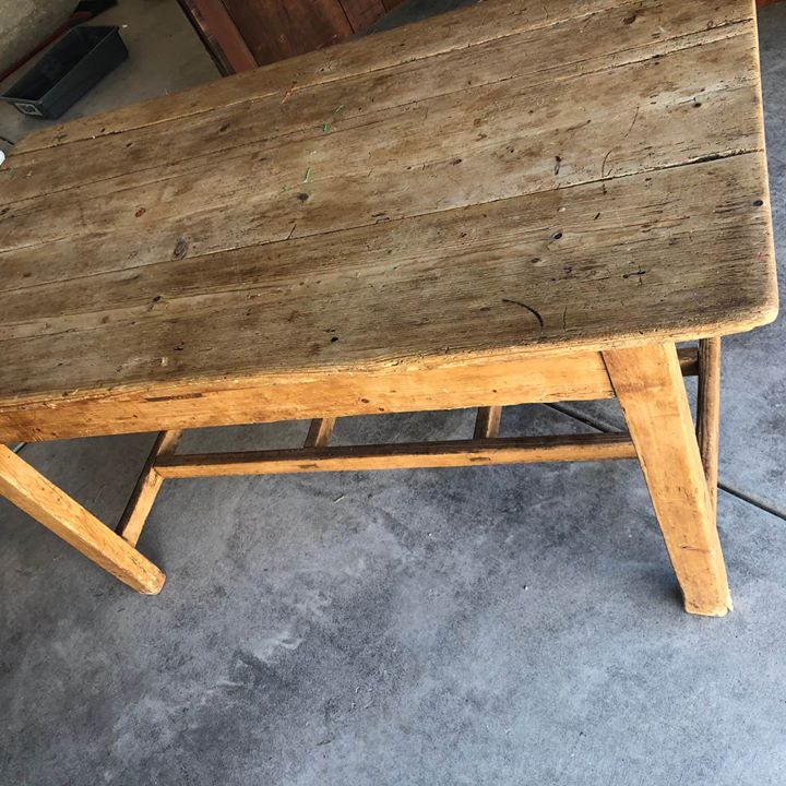 q how to make an old homemade irish table into a dining table