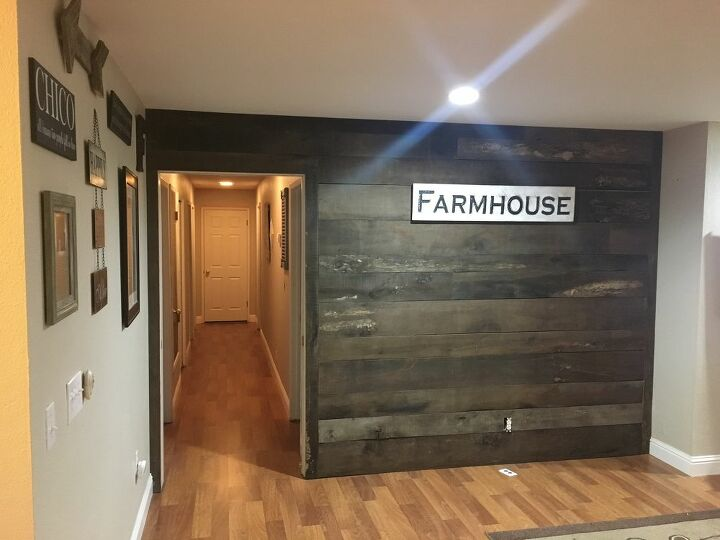 barn wood inspired accent wall