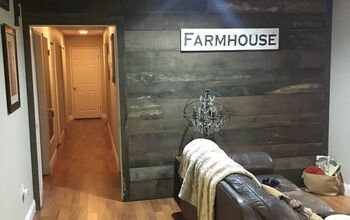 Barn Wood Inspired Accent Wall #2020DIYContest