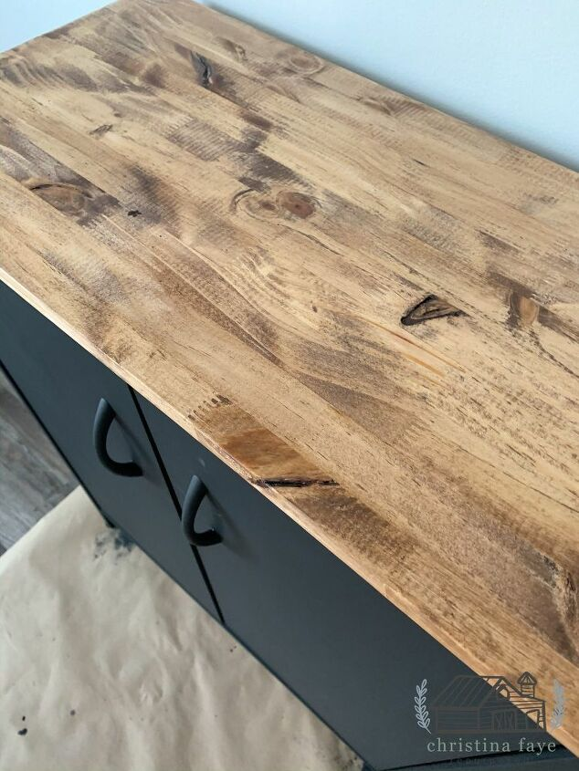 Stained Wood Top