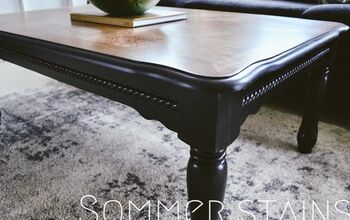 Outdated Coffee Table + Side Table Redo