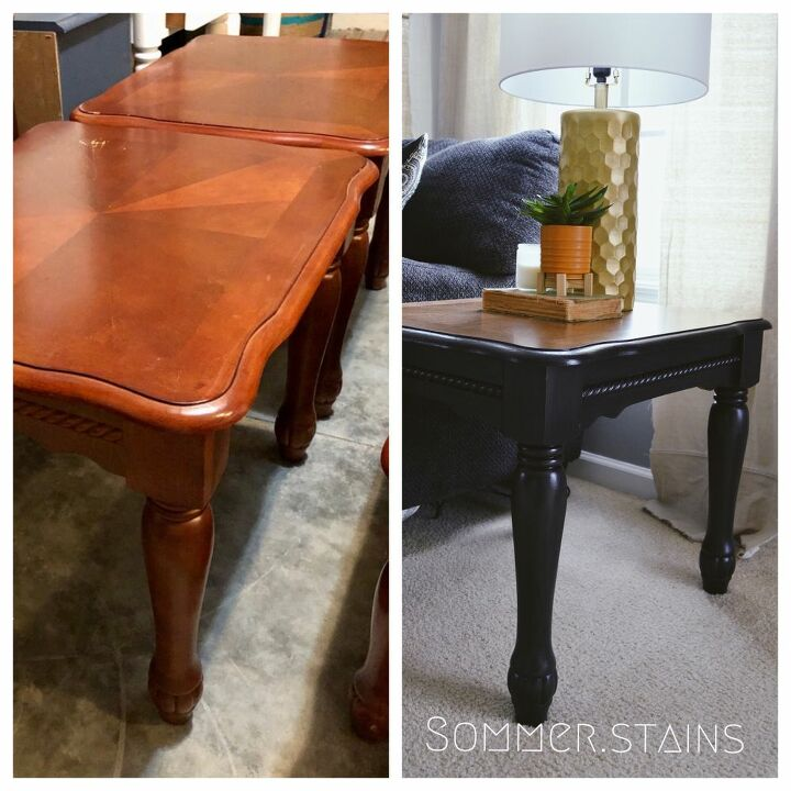 outdated coffee table side table redo
