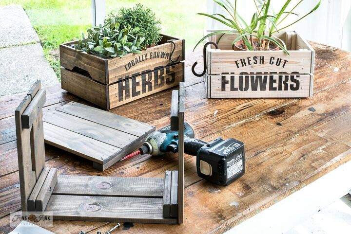 flip a simple ikea crate into a game changer junk infused planter