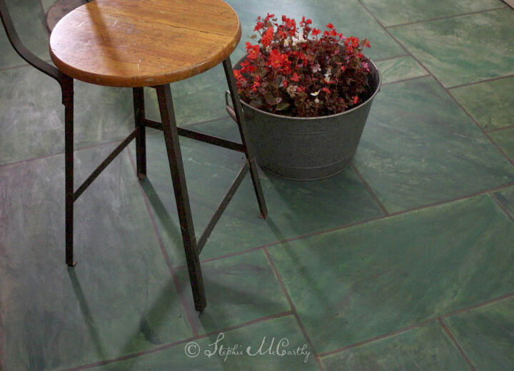 Marble tiles made with paint and stain