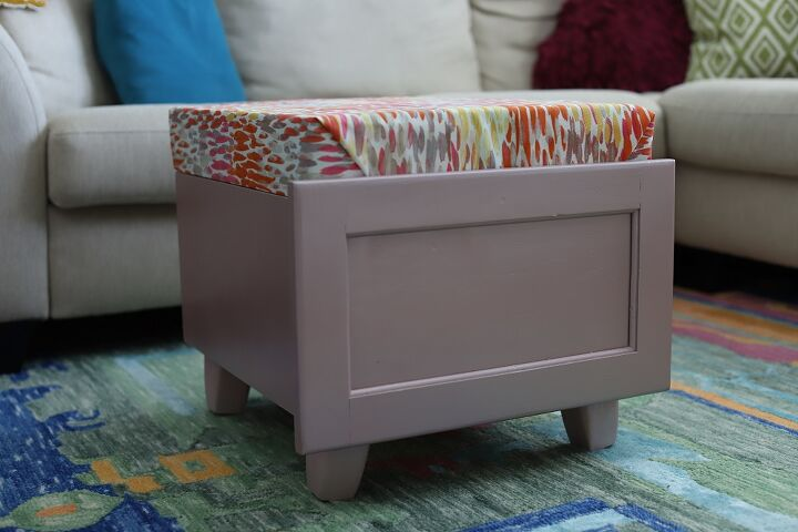 old drawer to a storage ottoman