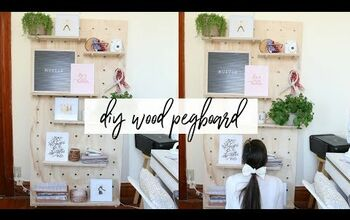DIY Giant Pegboard Shelving Without Drilling Into Your Walls