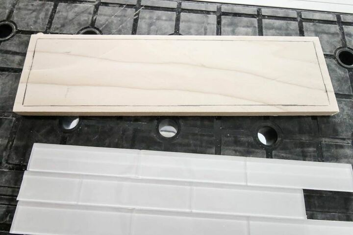 how to make a simple tile and wood tray