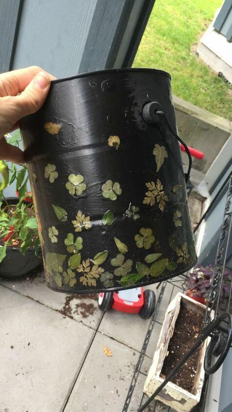 diy plant pot out of empty paint cans