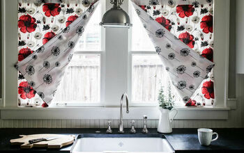 Super Easy 4 Seam Reversible Curtain for Kitchens and Bathrooms