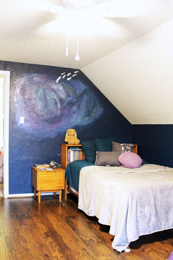 abstract galaxy accent wall