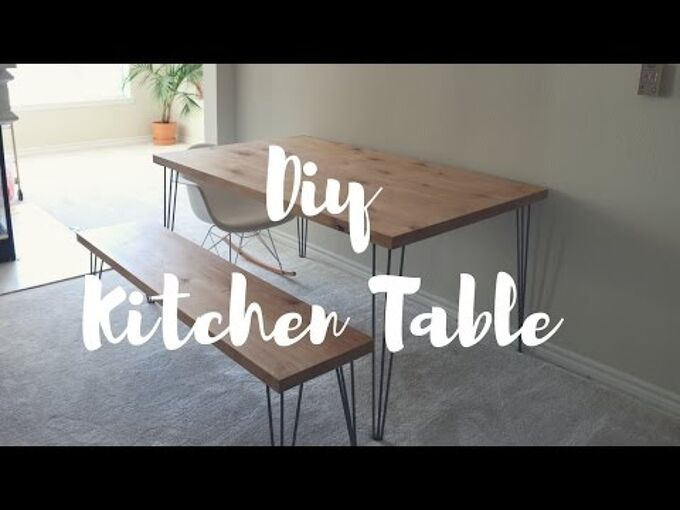 diy kitchen table bench