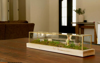 Closed Terrarium From Glass Centerpiece