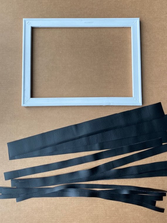 easy faux leather wall art