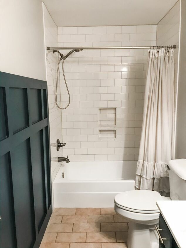 bathroom board and batten