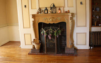 Painting a Stove, Mantel, and Hearth in Antique Colors