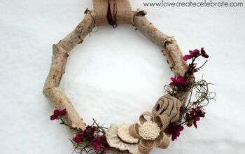 Winter Birch Wood Wreath