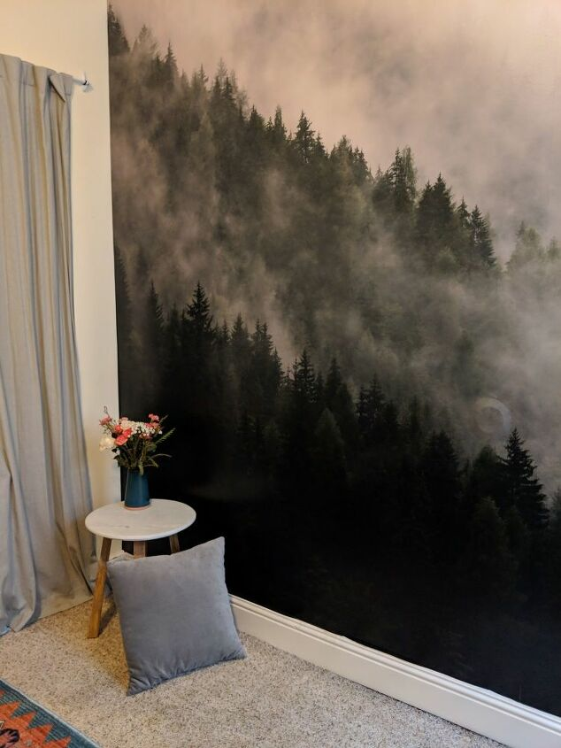 installing a peel stick mural