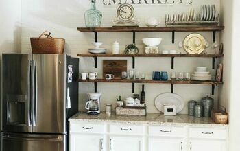 Simple Open Shelving on a Budget