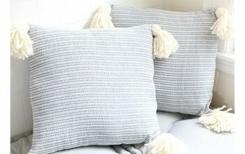 Make These Farmhouse Style Tassel Pillows