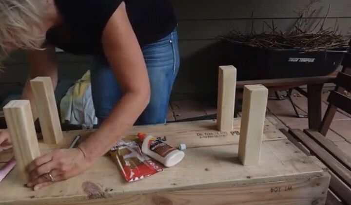 Sand & attach legs with glue