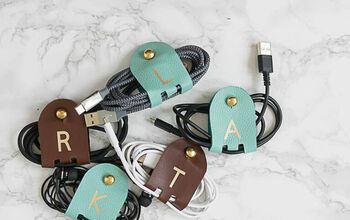 Make DIY Monogrammed Leather Cord Keepers With Cricut