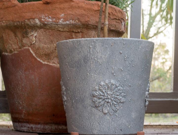 diy faux concrete planter diy flexible medallions