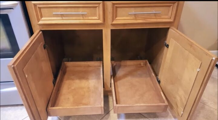 How To Build Diy Pull Out Cabinet Shelves For Under 30 Each