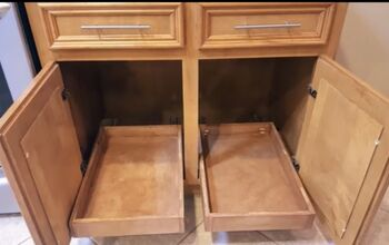 DIY Pull-Out Cabinet Shelves for Under $30 Each