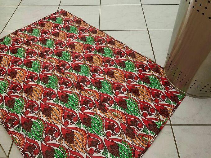 bath mat from shopping bags