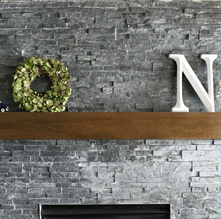 how to update a fireplace with stacked stone