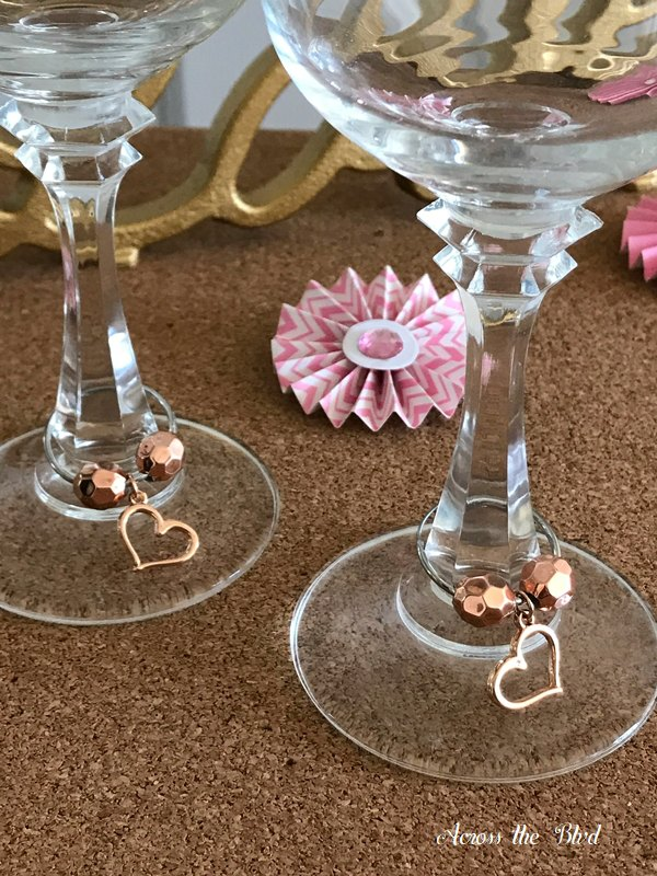 five minute wine glass charms for valentine s day