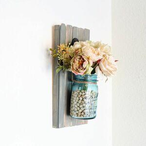 Hanging mason jar sconce