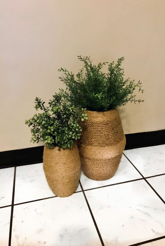 jute rope vases