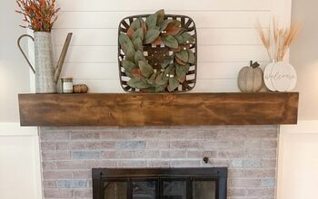 Faux Beam Fireplace Mantle