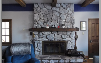 Whitewashing a Dark Fireplace
