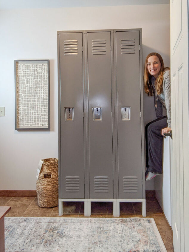 mudroom makeover creating storage in a small space