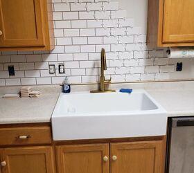 How To Newbie Diy Subway Tile Backsplash Hometalk