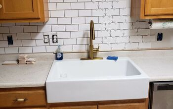 Newbie DIY Subway Tile Backsplash