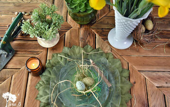 DIY Leafy Chargers/Placemats