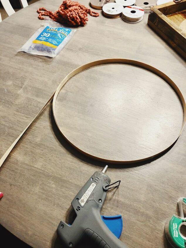 20 minute diy hoop wreath