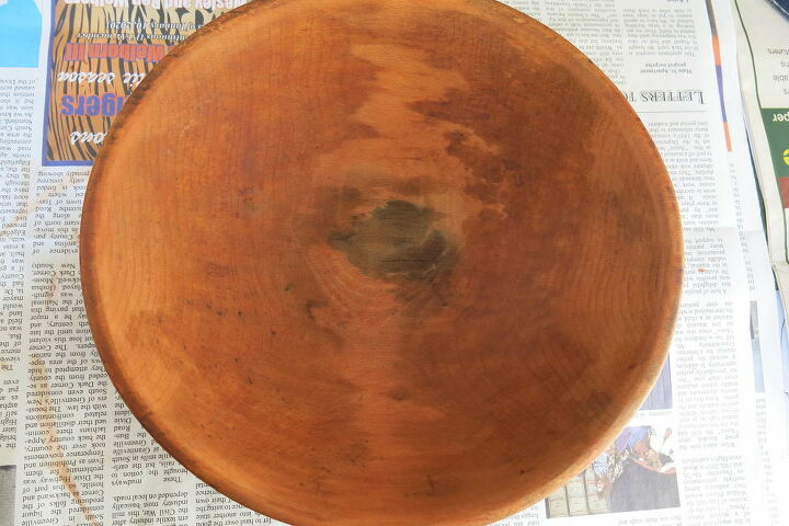 beat up wooden bowl gets a new life