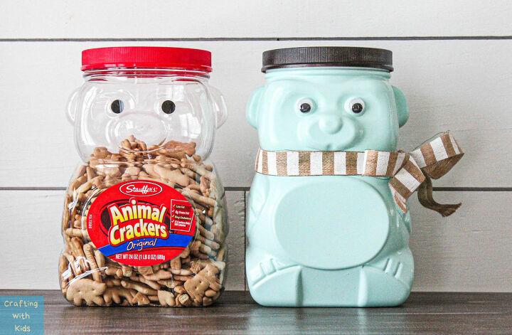 up cycled animal cracker bear jug