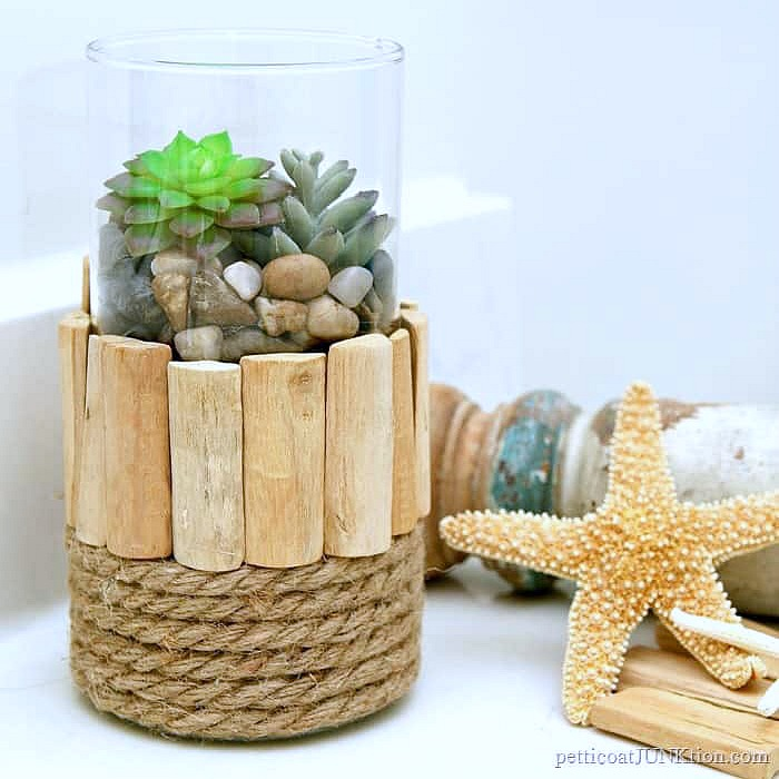 nautical style candle holder or succulent vase