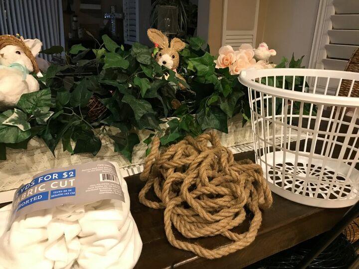 dollar tree rope basket