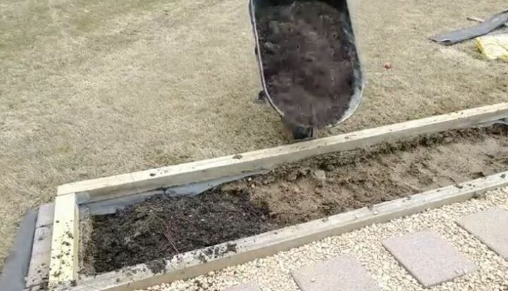 Fill Pallets and Planters with Soil Mixture