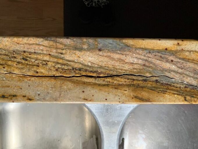 q how can i fix my granite countertop at the sink